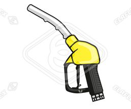 Icon / Clipart<br />Petrol Station Dispenser Pump & Nozzle (yellow)