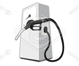 Icon / Clipart<br />Petrol Station Dispenser Pump & Nozzle (black)