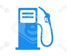 Icon<br />Petrol Station Dispenser Pump & Nozzle (blue)