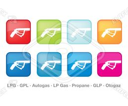 Icon / Web<br />Patrol Station, Nozzle for LPG Gas (Colours)